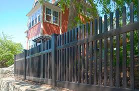black vinyl picket fence. Need A Black Vinyl PVC Picket Fence? This Terrific Photo Shows How Comfortable Fence C