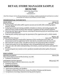 Retail Manager Resume Examples And Samples Elegant Plant Job ...