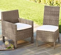torrey all weather wicker dining side chair natural pottery barn throughout outdoor chairs design 12