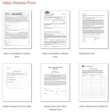 Talent Release Form For Filming And Video To Free Download