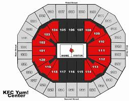 Uofl Football Stadium Seating Chart 44 Credible Yum Center Louisville Kentucky Seating Chart