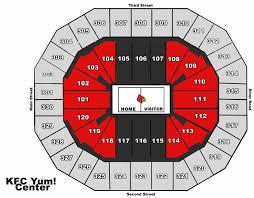 Kentucky Basketball Seating Chart 44 Credible Yum Center Louisville Kentucky Seating Chart