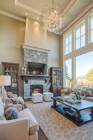 traditional living room with tv. Living Room Addition Traditional With Real Stone Drum Chandeliers Tv D
