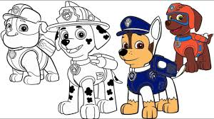 Small Picture Paw Patrol Marshall Chase Zuma Rubble Coloring Pages YouTube