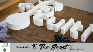 3d printed signage the beast large 3d printer