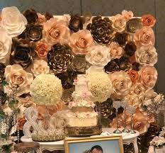 Paper Flower Backdrop Rental Paper Flower Wall Paper Flowers Paper Flower Wall Rental Las