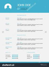 professional simple styled resume template design stock vector professional simple styled resume template design blue header and gray background