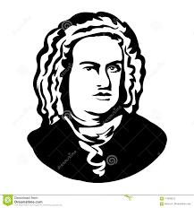 Johann Sebastian Bachvector Portrait Of Mark Twain Stock Vector