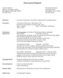 Sample College Student Resumes Current Resume Examples Current