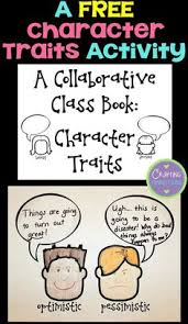 character traits anchor chart activity freebie included