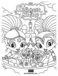 Shimmer Shine Coloring Pages At Getdrawingscom Free For Personal