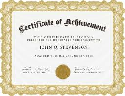 Printable Achievement Certificates Certificate Template Free To Download New Template Achievement