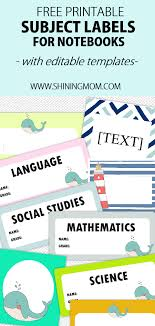 Name Templates Printable Free Label Templates For Back To School Really Cute Designs