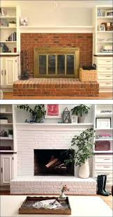 refacing brick fireplace fireplace before and after painted brick refacing brick fireplace with wood