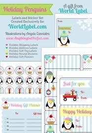 Penguin Labels and Planner: Free Printables on Site