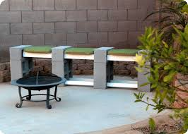 cinderblock furniture. Cinder Block Bench Cinderblock Furniture L