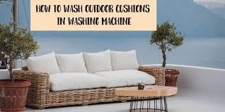 wash outdoor cushions in washing machine