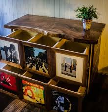 record display storage cabinet media console chris i love how you can choose which records to display in the front its like a cabinet with designs front shot finished vinyl record