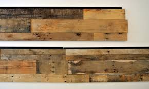 reclaimed accent wall. Recycled wood wall panels
