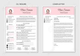 Modern Resume Templete Resume Template For Women Modern Cv And Cover Letter Layout