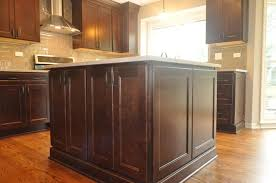 kitchen island close up. Kitchen Island Close Up Shows The Quality Of Cabinets.