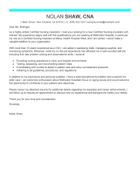Best Nursing Aide And Assistant Cover Letter Examples Ideas