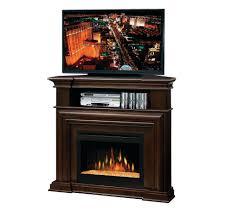 corner electric fireplace tv stand oak combo