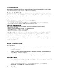What Should Your Objective Be On Your Resume Objective Statements For A Resume Nursing Accounting Statement 45