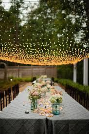 table decorations garden party Gartendeko ideas party garden lights