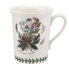 portmeirion botanic garden seconds mug set of 6 rose spode uk