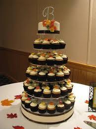 fall wedding cupcakes. Beautiful Cupcakes Jaylene U0026 Jeremyu0027s Fall Wedding Cupcake Tower On Cupcakes C