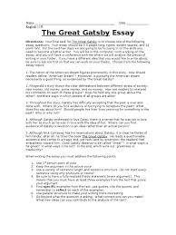 the great gatsby essay docshare tips the great gatsby final essay