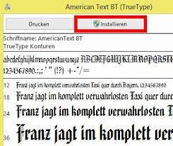 altdeutsche schrift word