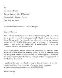 Brilliant Ideas of Introduction Formal Letter For Your Template