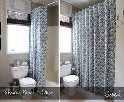 image of shower stall curtain rod kits