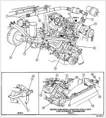 watch more like crankshaft exploded view of  heater hose installation 7 5l 460 cid engine heater hose routing