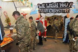Soldiers in Afghanistan tuck in to 2.5tonnes of turkey and a tonne ...