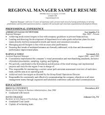 Retail District Manager Resume Sample