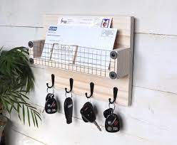 white key holder for wall key rack with