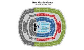 U2 Metlife Seating Chart U2 Live 2017 The Joshua Tree Concert 2 Tickets