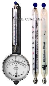 hair hygrometer. lambrecht polymeter: a combination of hair hygrometer and mercury thermometer. - click to enlarge
