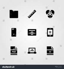 Web Design Icon Psd Web Design Vector Icon Set Folder Stock Vector Royalty Free