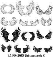 翼 イラストレーション 1000 翼 ストックアート Fotosearch
