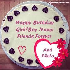 happy birthday dear friend name photo