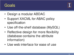 Abac Database Design Ppt Attribute Based Database Access Control Abdac