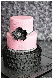 glam pink black cake the cake blog
