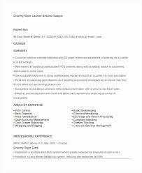 Supermarket Cashier Resume Cool Resume For Grocery Store Elegant Grocery Store Cashier Resume