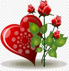 heart rose flower valentines day clip art red rose love