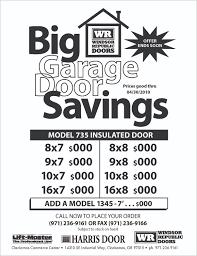 flyer fax garage doors barbara davidson miller with door designs 33