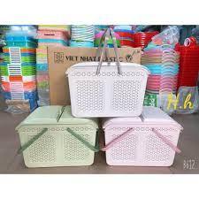 Bình luận Làn nhựa đựng đồ đi sinh cho mẹ và bé, Giỏ đựng đồ sơ sinh cho bé  2604 nhựa Việt Nhật chất lượng cao